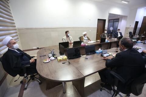 دیدار رئیس کمیسیون عمران مجلس با آیت الله اعرافی