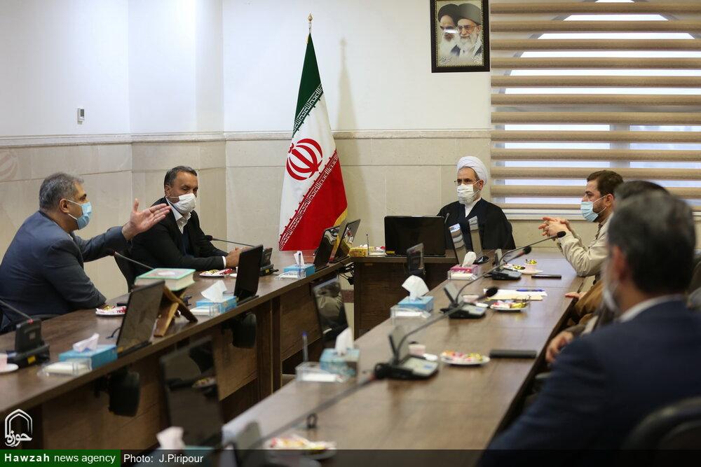 تصاویر/ دیدار رئیس کمیسیون عمران مجلس با آیت الله اعرافی