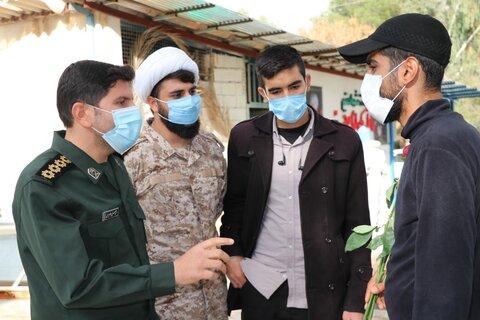 تصاویر| قدردانی جانشین سازمان بسیج طلاب فارس از طلاب جهادی تغسیل کرونایی