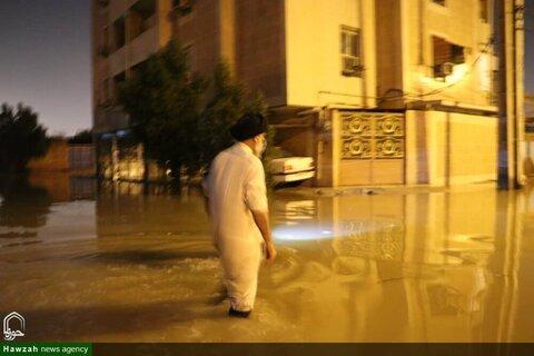 التفقد الليلي لممثل الولي الفقيه في محافظة خوزستان إلى ميناء امام خميني ومدينة تشمران جنوب البلاد