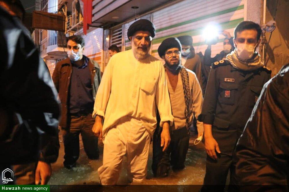 تصاویر/ بازدید شبانه نماینده ولی فقیه در خوزستان از بندر امام خمینی و شهر چمران