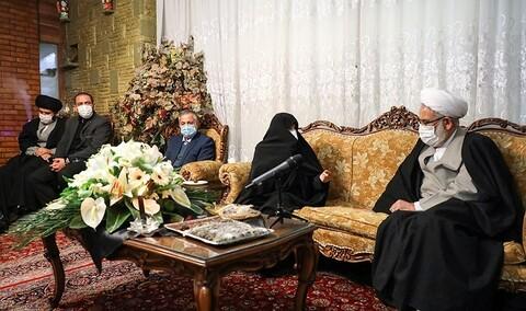 دیدار دادستان کل کشور با خانواده شهید فخری زاده