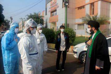 خداقوت مدیران حوزوی خوزستان به طلاب جهادی بیمارستانهای کرونایی+عکس