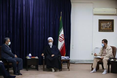 تصاویر/ دیدار وزیر جهاد کشاورزی با آیت الله اعرافی