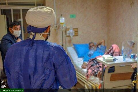 حضور طلاب جهادی در بیمارستان