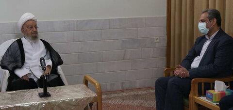 حضرت آیت الله مکارم شیرازی در دیدار کاظم خاوازی وزیر جهاد کشاورزی