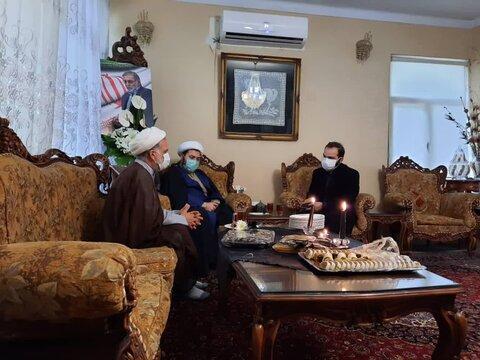 دیدار مدیر حوزه علمیه خواهران استان تهران با خانواده شهید فخری زاده