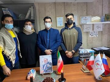 بزرگداشت شهید فخریزاده توسط دانشجویان ایرانی مقیم مسکو