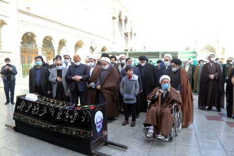تصاویر / مراسم تشییع و تدفین پیکر مرحوم حجت الاسلام والمسلمین جعفر الهادی (خوشنویس)