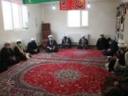 تصاویر/ نشست روحانیون طرح هجرت شهرستان بیجار با مدیر حوزه علمیه استان کردستان