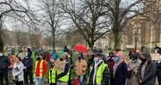 حضور صدها معترض در راهپیمایی ضداسلامهراسی در بریستول