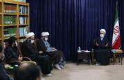 تصاویر/ دیدار اعضای ستاد اجرایی طرح شهید بیاضیزاده با آیت الله اعرافی