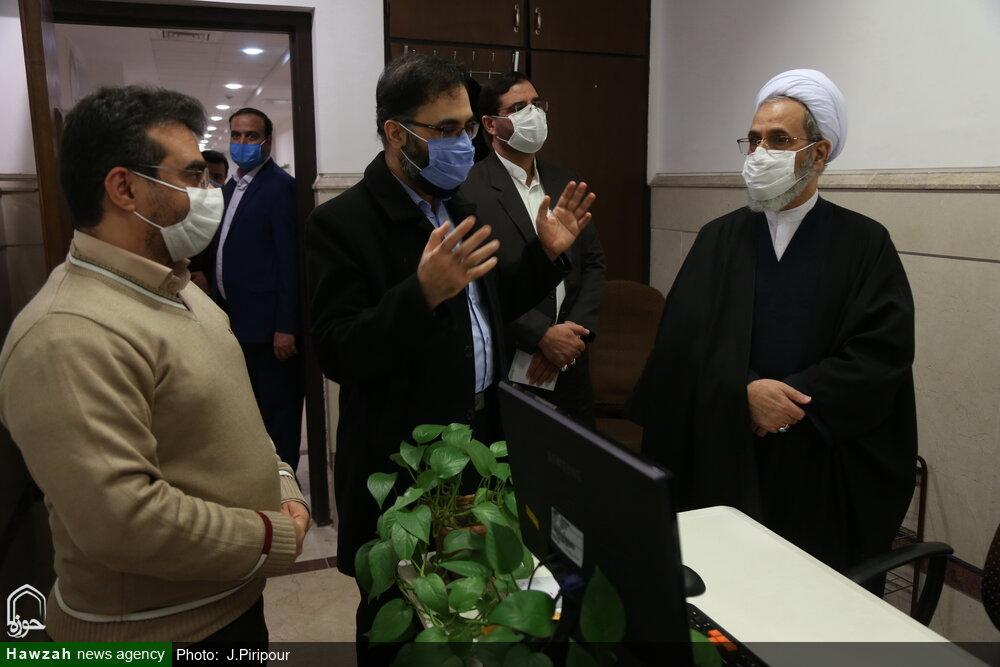 بازدید آیت الله اعرافی از واحدهای مختلف مرکز فناوری اطلاعات حوزه
