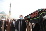 تصاویر / مراسم تشییع پیکر والد استاد هادوی تهرانی