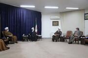 تصاویر / دیدار اعضای کنگره آیت الله العظمی سید محمود حسینی شاهرودی با آیت الله اعرافی