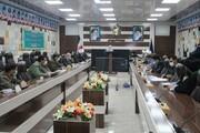 تصاویر/ نشست هماهنگی بزرگداشت سالگرد شهادت سردار سلیمانی در سالن جلسات سپاه بیت المقدس کردستان