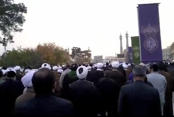 فیلم   تشییع پیکر آیت الله محمد یزدی در قم