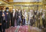 گلباران مزار شریف سومین شهید محراب در شیراز