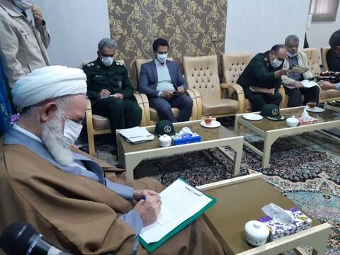 تصاویر/ دیدار اعضاءستاد بزرگداشت سردار سلیمانی با امام جمعه کاشان
