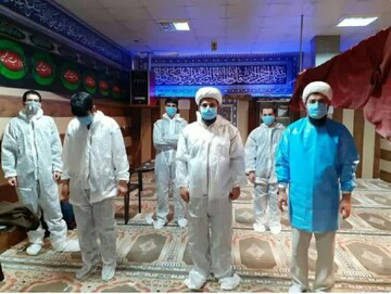 فیلم |  گزارشی از خدمترسانی طلاب جهادی همدان به بیماران کرونایی