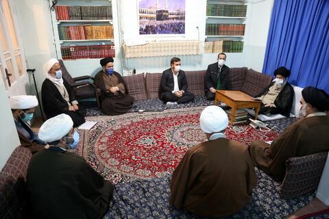 دیدار اعضای انجمن تبلیغ و ارتباطات حوزه علمیه قم با حضرت آیت الله علوی گرگانی