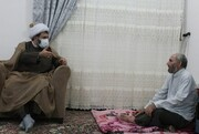 تصاویر/ عیادت مدیر حوزه کردستان از روحانی طرح هجرت