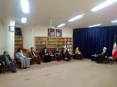 تصاویر/ دیدار نمایندگان شهریه دفاتر مراجع با آیت الله اعرافی