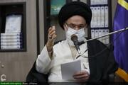 بالصور/ الاحتفاء بأسبوع البحث والتحقيق في مؤسسة دار الإعلام بمشاركة آية الله الحسيني البوشهري بقم المقدسة