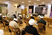 تصاویر/ مراسم بزرگداشت مرحوم آیت الله محمد یزدی و شهید فخری زاده در حوزه اصفهان