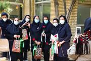 تصاویر/ تقدیر از پرستاران بیمارستان عیسی بن مریم  توسط طلاب جهادگر اصفهان
