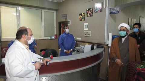 تصاویر/ تقدیر مدیر حوزه علمیه تهران از کادر درمان بیمارستان فجر تهران