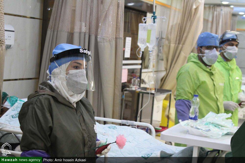 کلیپ | تقدیر طلاب مدرسه عالی ریحانه النبی (س) گیلان از مدافعان سلامت