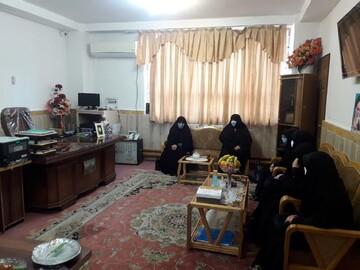 مدیر حوزه علمیه خواهران آذربایجان غربی به خوی رفت + عکس
