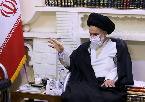تصاویر/ دیدار اعضای ستاد بزرگداشت مرحوم آیت الله العظمی حسینی شاهرودی با آیت الله حسینی بوشهری