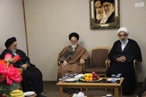 معاون بین الملل دفتر مقام معظم رهبری با امام جمعه نجف اشرف دیدار کرد