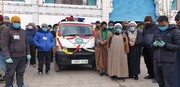 کرگل، الرضا ہیلتھ کیر اینڈ ریسرچ فاؤنڈیشن کو ایمرجنسی ایمبولینس کا عطیہ