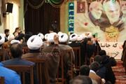 تصاویر / تجمع طلاب و فضلای تبریزی به مناسبت ۹ دی