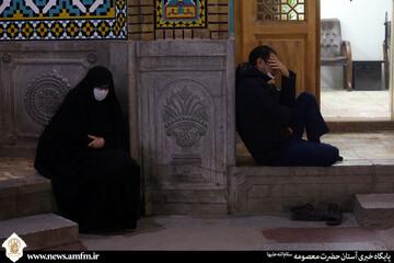 حال و هوای آستان فاطمی در شام شهادت حضرت فاطمه زهرا (س)