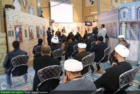 بالصور/ مراسم الاحتفاء بذكرى استشهاد اللواء قاسم سليماني وأبومهدي المهندس بقم المقدسة