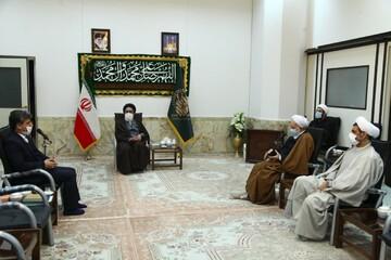 دیدار نماینده ولی فقیه در بنیاد شهید با آیتالله سعیدی