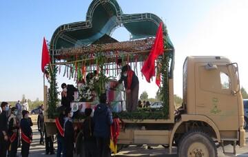 تصاویر/ مراسم تشییع ۶ شهید گمنام دوران دفاع مقدس در سمنان