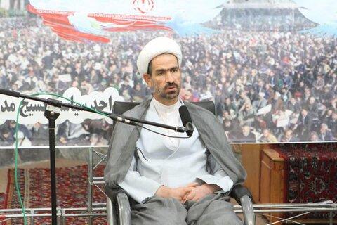 حجت الاسلام فلاحی، رئیس فراکسیون حمایت از جبهه مقاومت مجلس در قم