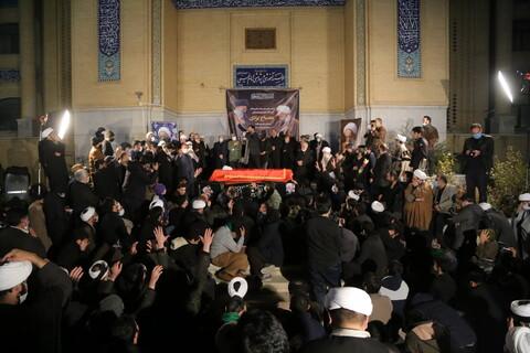 مراسم وداع با پیکر آیت الله مصباح یزدی در موسسه آموزشی و پژوهشی امام خمینی(ره)