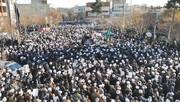 فیلم | تشییع باشکوه مصباح انقلاب در قم