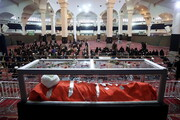 تصاویر/ مراسم وداع با پیکر آیت االله مصباح یزدی(ره) در مصلای قم