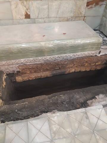 عکس/ محل تدفین آیتالله مصباح یزدی در کنار مزار آیتالله العظمی بهجت(ره)