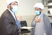 تصاویر/ معارفه هئیت امنای مدرسه علمیه امام جعفر صادق(ع) قشم