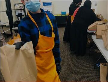 خیریه اسلامی در جرسی جنوبی به خانوادهها غذارسانی میکند.