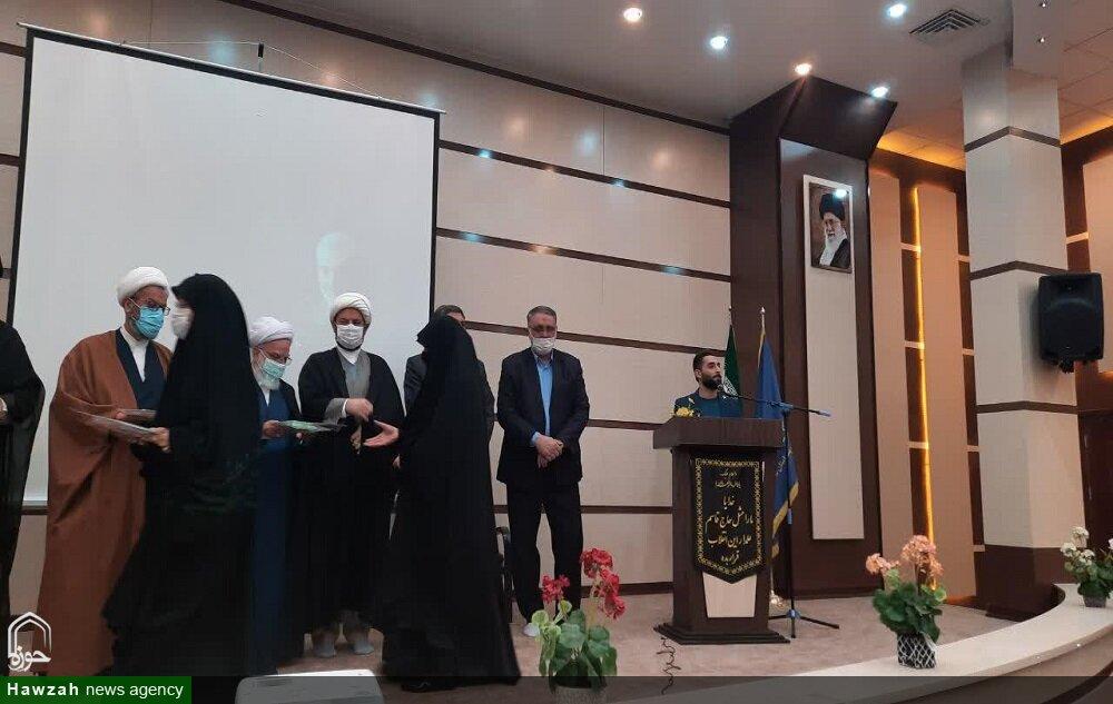 تصاویر/ تجلیل از خواهران طلبه جهادگر و فعال در مبارزه با کرونا در سمنان