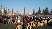 محافظة حماة السورية تحتفي بالشهيد قاسم سليماني + الصور